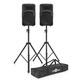 Mackie SRM450 V3 Active PA Speaker Pair with Stands
