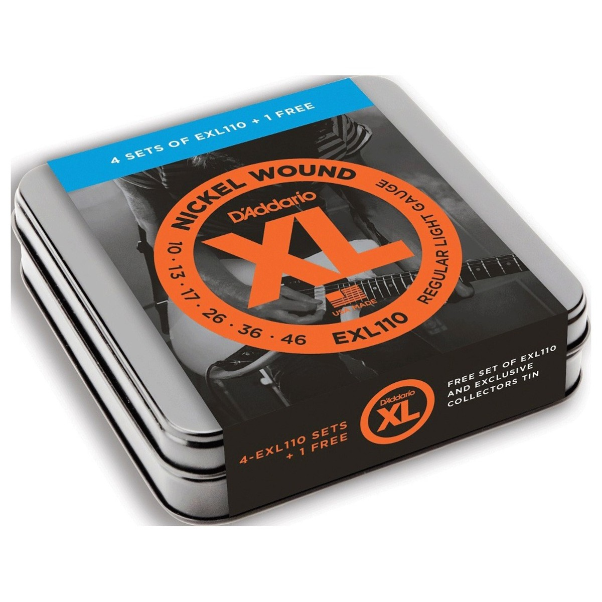 D'Addario EXL110 Electric 5 Pack, Ltd Edition Tin at ...