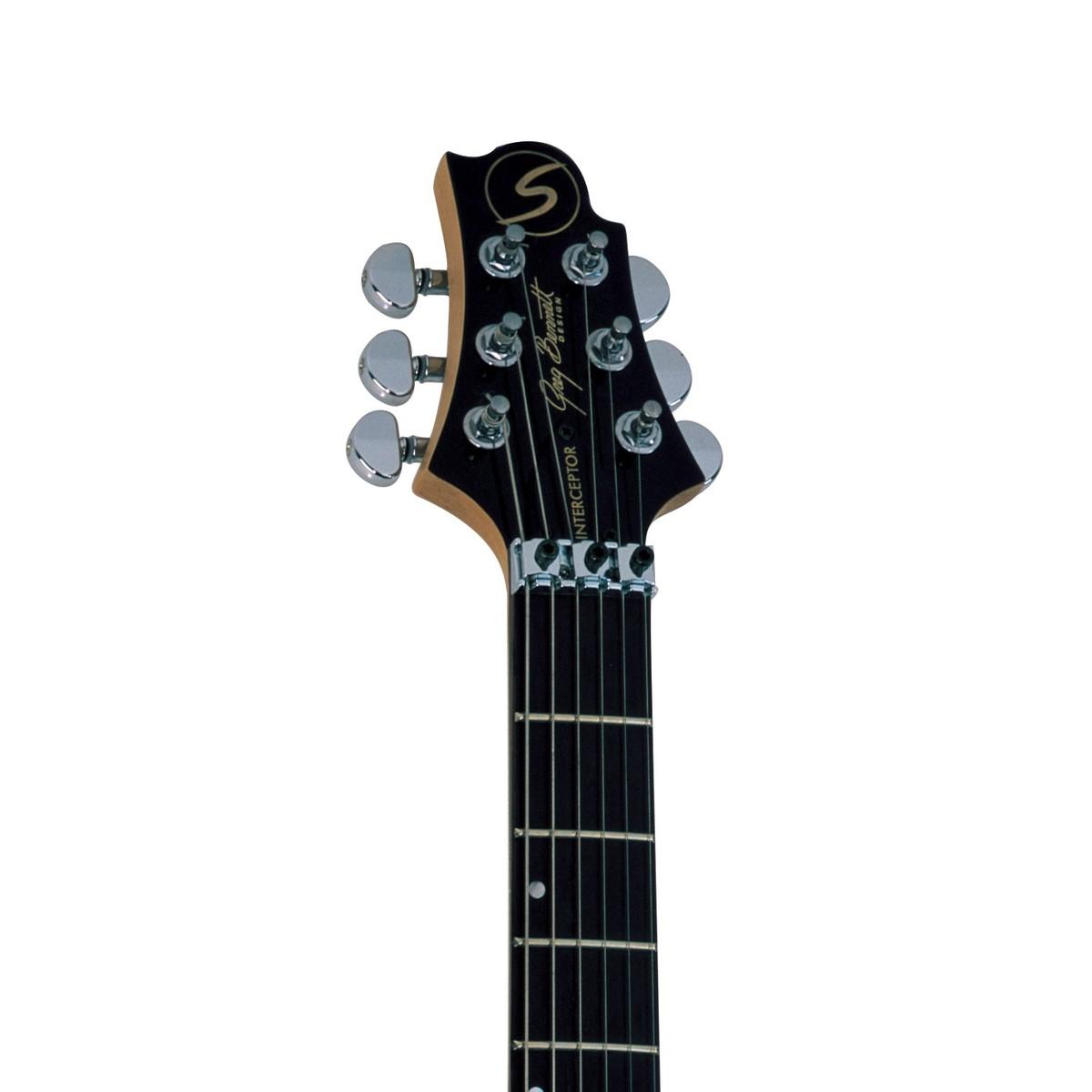 greg bennett interceptor ic-30 guitare electrique rouge transparent