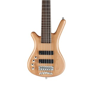 Warwick Rockbass Corvette Left Handed 6-String Bass, Natural Satin