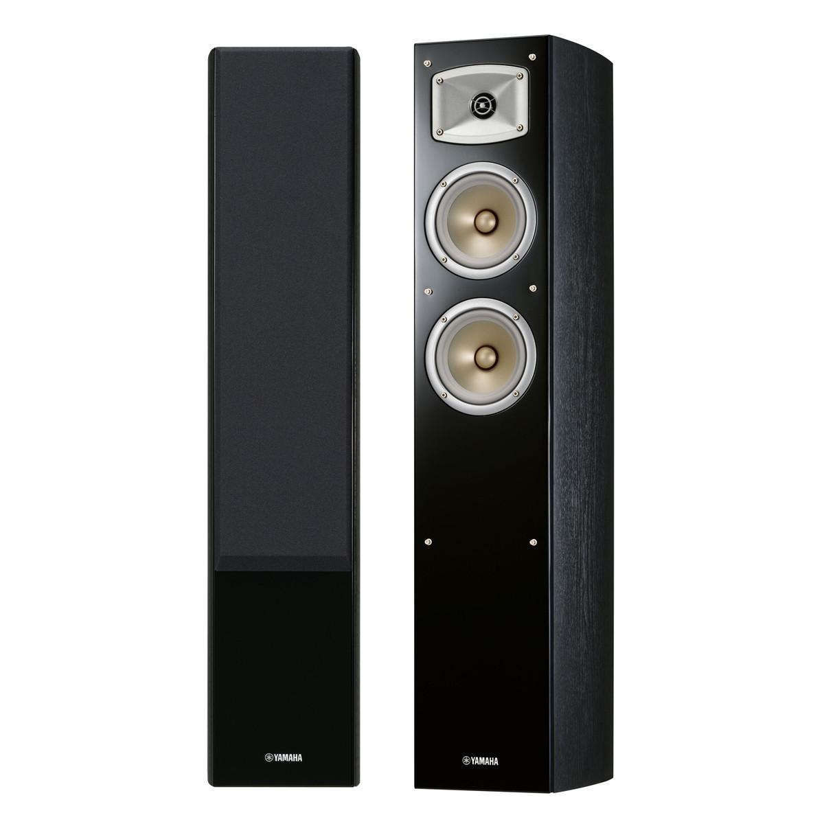 disc yamaha nsf330 floor standing speakers black at