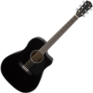 Fender CD-60CE Electro Acoustic Guitar, Black