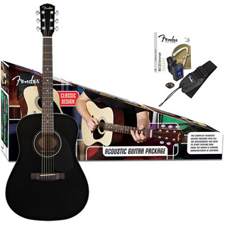 Fender CD-60 Acoustic Guitar Pack, Black