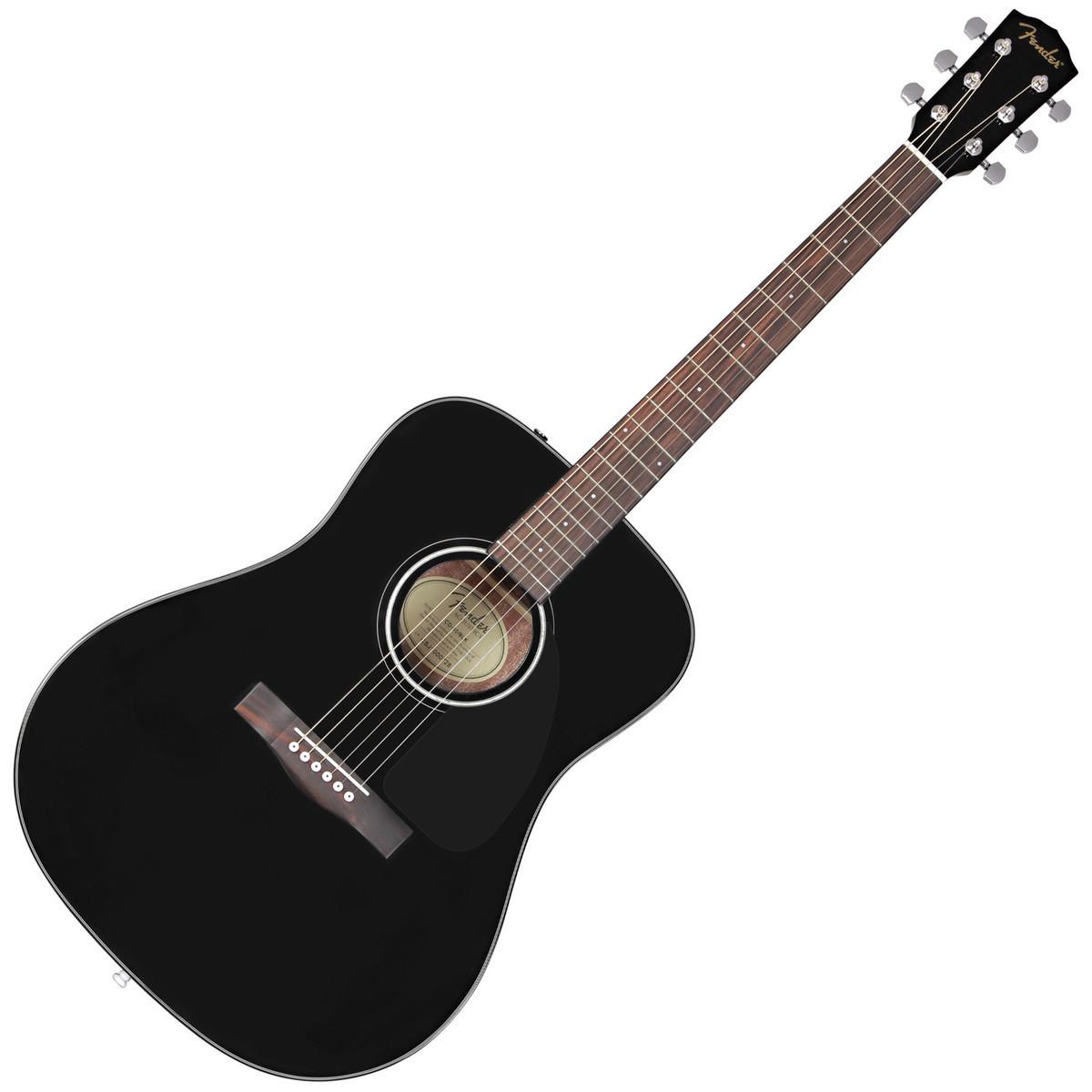 fender cd 60 acoustic guitar pack black at. Black Bedroom Furniture Sets. Home Design Ideas