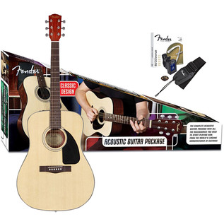 Fender CD-60 Acoustic Guitar Pack, Natural