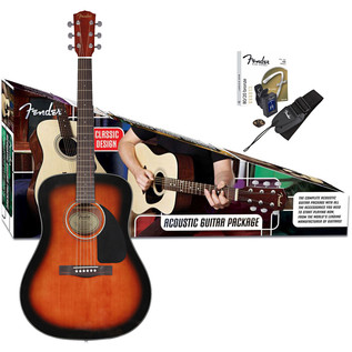 Fender CD-60 Acoustic Guitar Pack, Sunburst