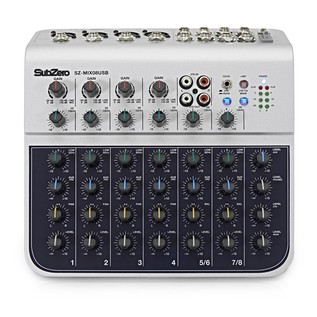 SubZero SZ-MIX08USB 8-Channel Mini Mixer with USB
