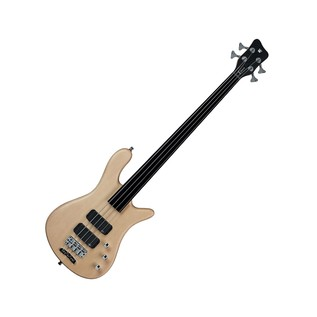 Warwick Rockbass Streamer Standard 4-String Bass, Fretless, Natural