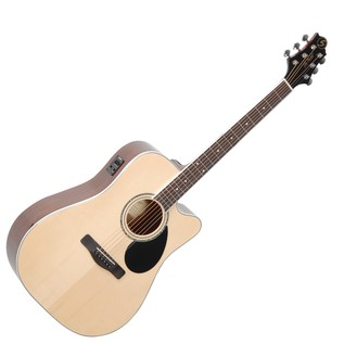 Greg Bennett GD-100SCE Electro-Acoustic Guitar, Natural