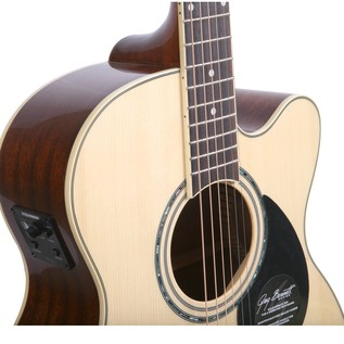 Greg Bennett GOM-100SCE Electro Acoustic Guitar, Natural