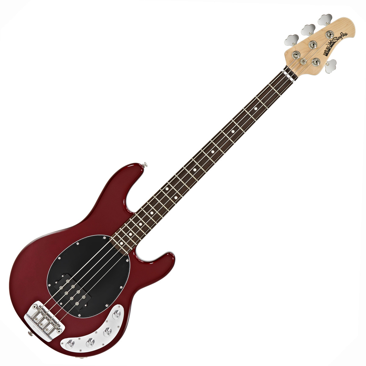 music man stingray 3eq bass guitar rn candy red at. Black Bedroom Furniture Sets. Home Design Ideas