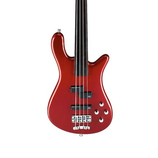 Warwick Rockbass Streamer LX 4-String Bass, Fretless, Metallic Red