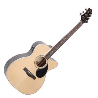 Greg Bennett GOM-100RSCE Electro Acoustic Guitar, Natural