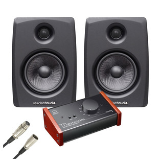Resident Audio M5 Studio Monitors with Level Control Module