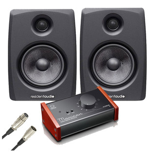 Resident Audio M8 Studio Monitors with Level Control Module