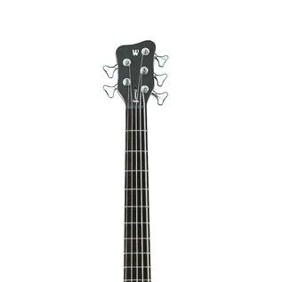 Warwick Rockbass Streamer Standard Left Handed 5 Bass, Black Polish