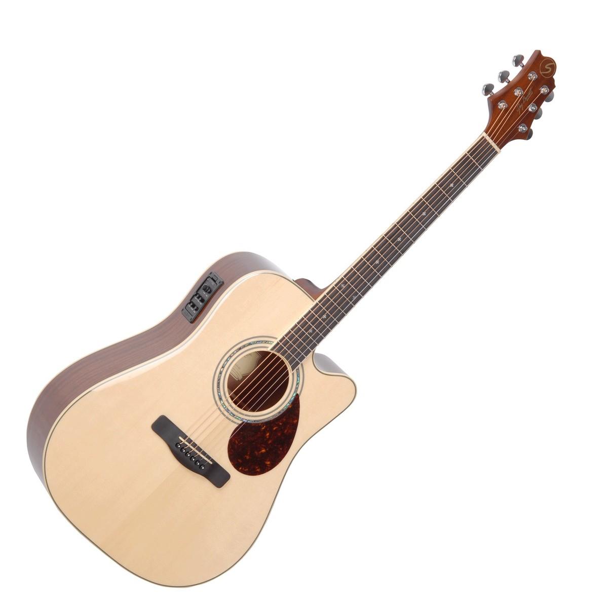 Image of Greg Bennett D-5CE Electro Acoustic Guitar Natural