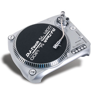 DJ Tech SL-1300 MK6 Direct Drive DJ Turntable, Silver
