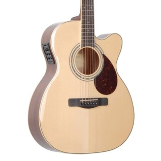 Greg Bennett OM-5CE Electro Acoustic Guitar, Natural