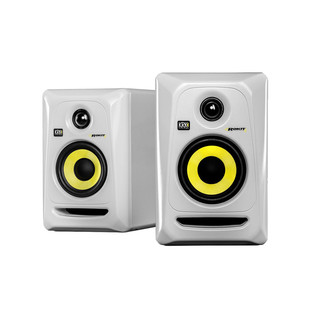 KRK Rokit RP4 G3 Studio Monitor in White, Pair