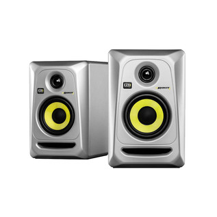 KRK Rokit RP4 G3 Studio Monitor in Silver, Pair