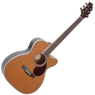 Greg Bennett OM-8CE Electro Acoustic Guitar, Cedar