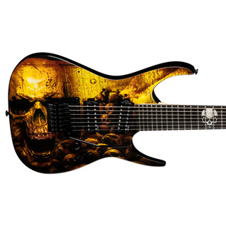 Dean Rusty Cooley 7 String Electric Guitar, Skulls