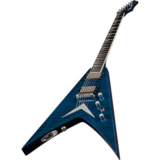 Dean V Dave Mustaine Limited Electric Guitar, Trans Blue