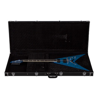 Dean V Dave Mustaine Limited Electric Guitar, Trans Blue with Case