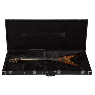 Dean V Dave Mustaine Limited Electric Guitar, Tiger Eye with Case