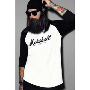 Marshall Baseball T-shirt, Script Logo Graphic, Unisex Small