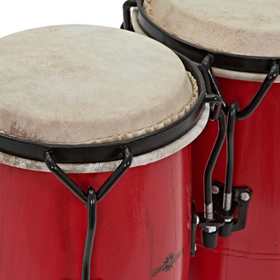 Junior Tunable Conga Set by Gear4music, Red