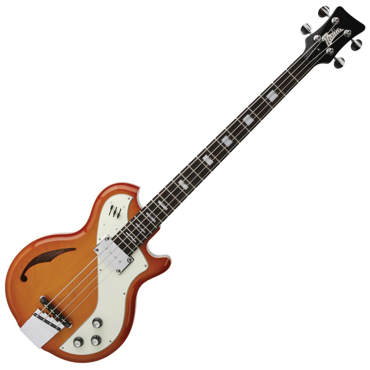 guitare basse deluxe italia mondial cherry sunburst avec housse. Black Bedroom Furniture Sets. Home Design Ideas