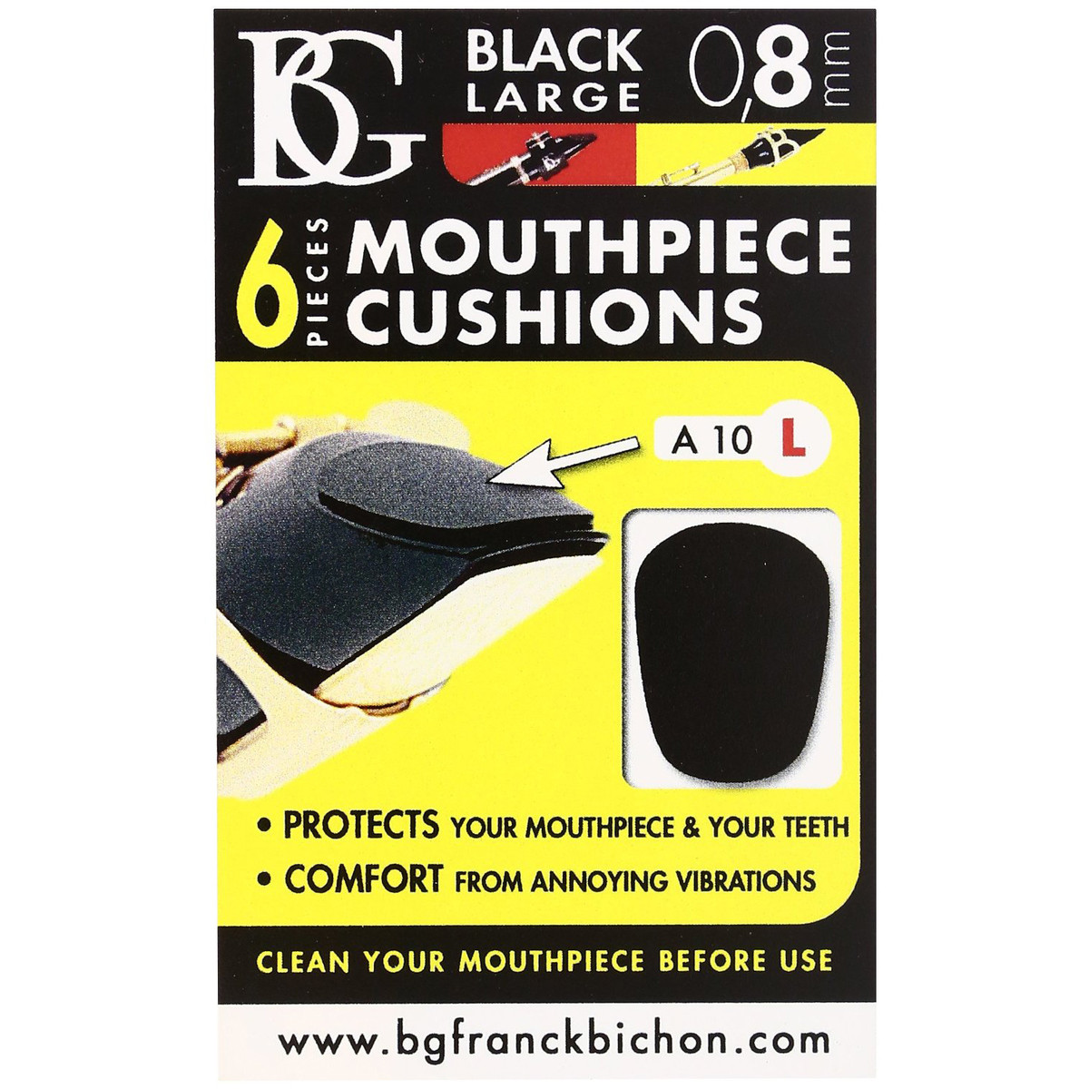 Image of BG Mouthpiece Cushion Sax and Clarinet Large 0.8MM (Pack Of 6)