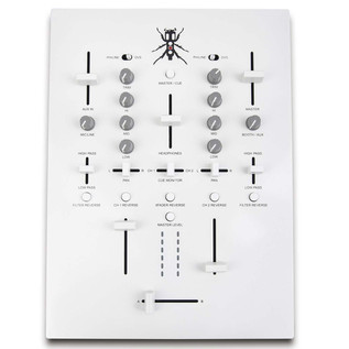 DJ Tech TRX Thud Rumble DJ Scratch Mixer, White