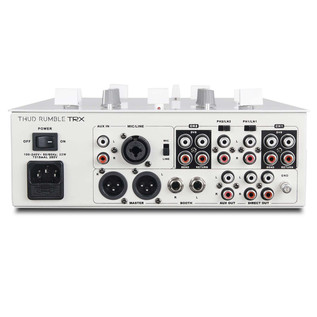 DJ Tech TRX Thud Rumble DJ Scratch Mixer, White - Rear View
