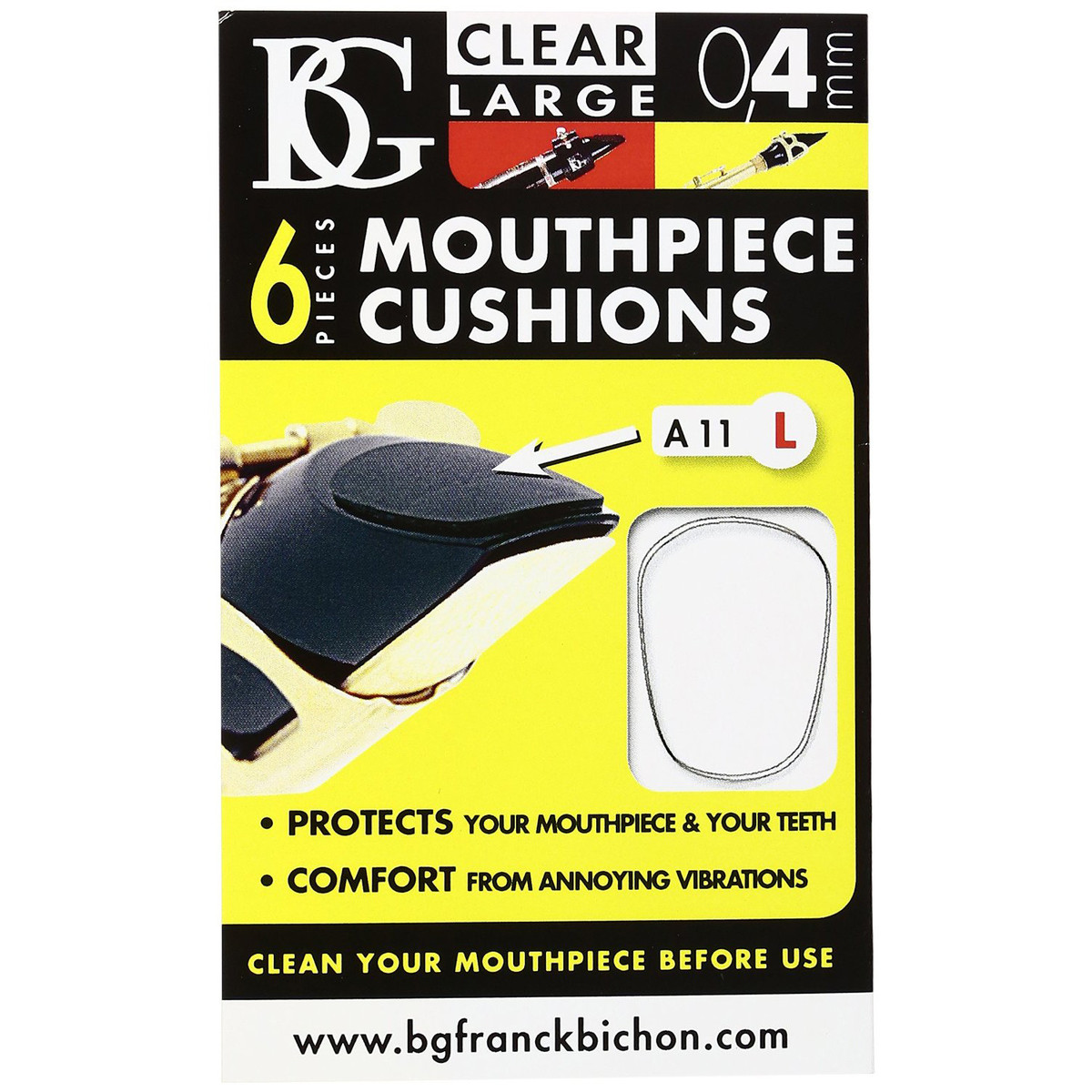 Image of BG Mouthpiece Cushion Sax and Clarinet Large 0.4mm (Pack Of 6)