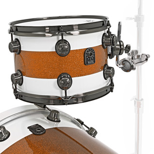 Natal Split Lacquer Maple, White Outer, Orange Sparkle Inlay, LTD EDT