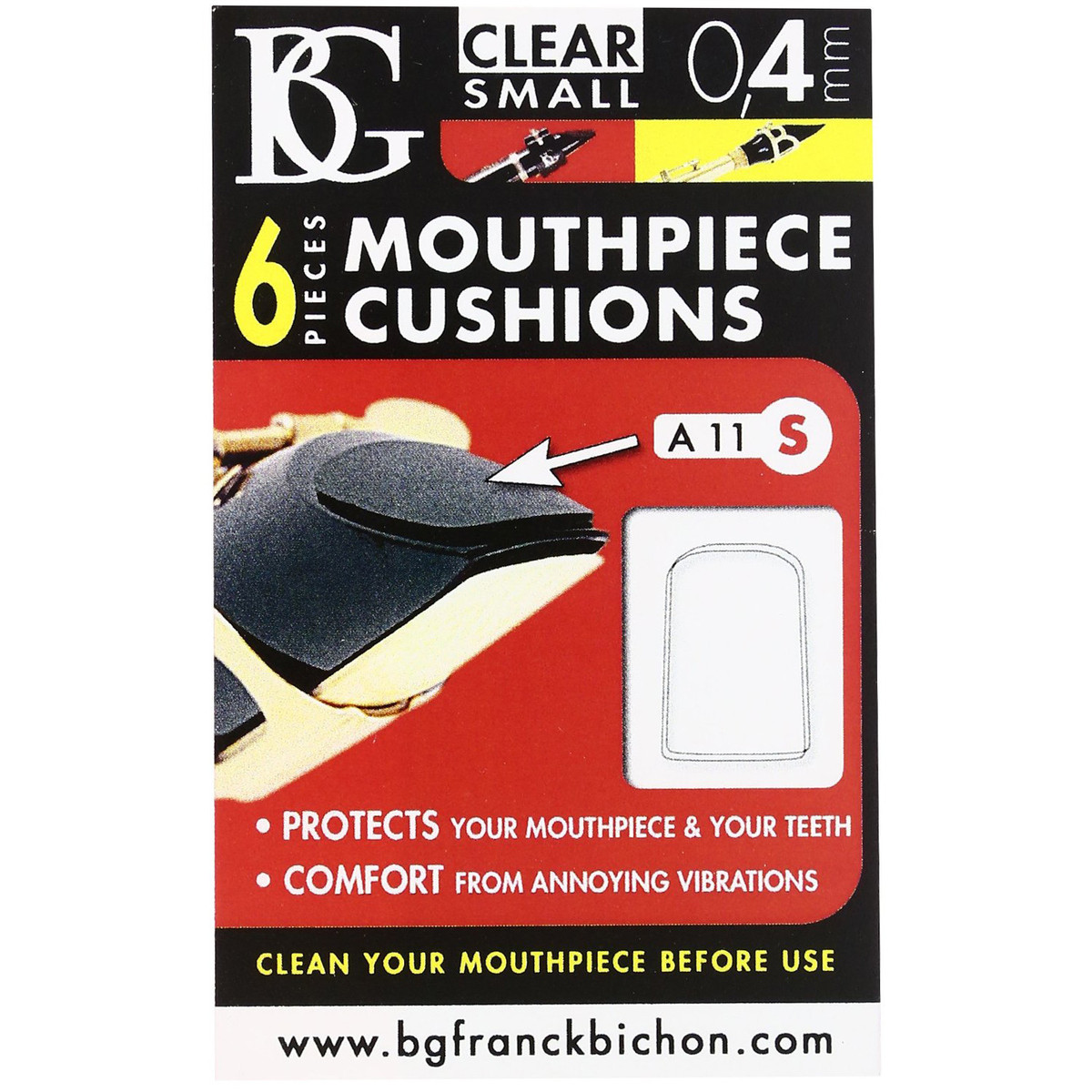 Image of BG Mouthpiece Cushion Sax and Clarinet Small 0.4mm (Pack Of 6)