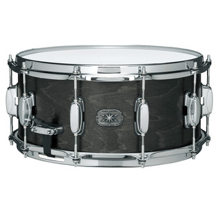 Tama Ltd Ed AM765 14'' x 6.5'' Maple Snare Drum, Satin Charcoal Black