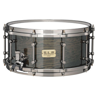 Tama Ltd Ed S.L.P. Oak 14'' x 6.5'' Snare Drum, Transparent Black Oak
