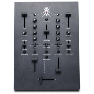 DJ Tech TRX Thud Rumble DJ Scratch Mixer, Black