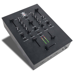 DJ Tech TRX Thud Rumble DJ Scratch Mixer, Black - Side View