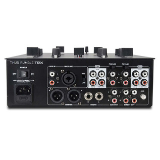 DJ Tech TRX Thud Rumble DJ Scratch Mixer, Black - Rear View