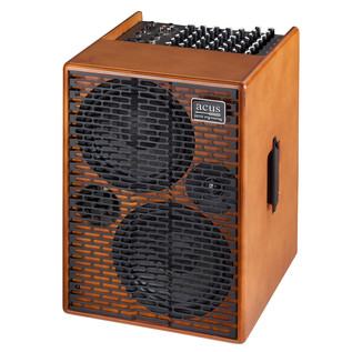 Acus AD Acoustic Amp, Wood - Front View