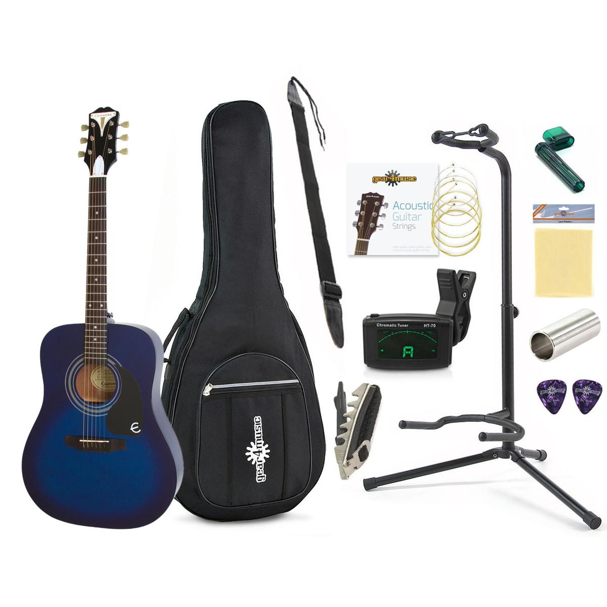 Epiphone Pro 1 Beginners Guitar Pack Blue At Gear4music Com