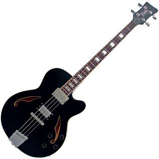 Italia Torino Semi-Hollow Body Bass Guitar, Black