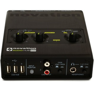 Novation Audiohub 2x4 Audio Interface and USB Hub