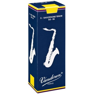 Vandoren Tenor Saxophone Reeds, Strength 2.5, Box of 5