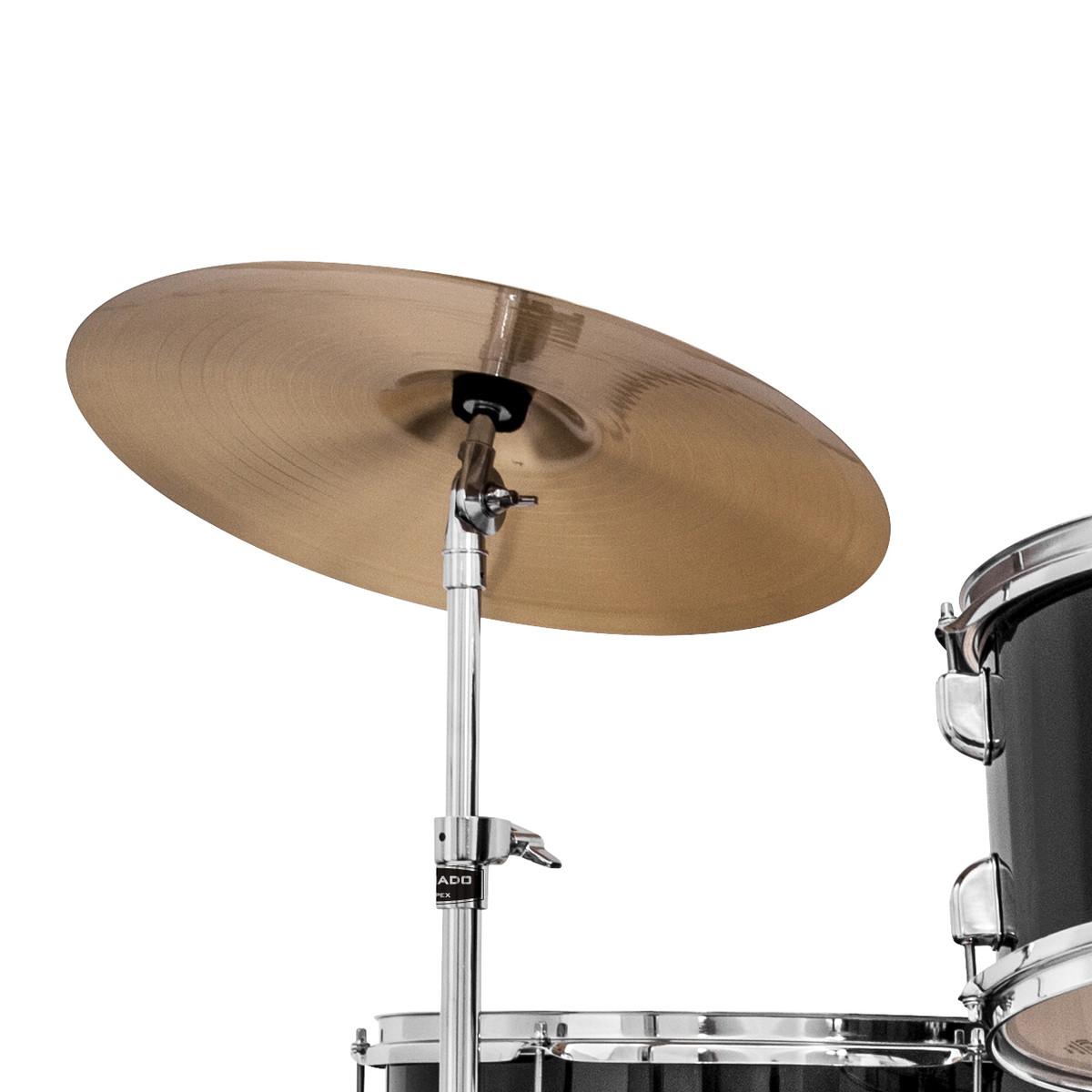 mapex tornado iii 22 39 39 rock drum kit black with extra crash at. Black Bedroom Furniture Sets. Home Design Ideas